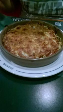 Straperlo Pizzeria Alfonso X: espagueti a la boloñesa