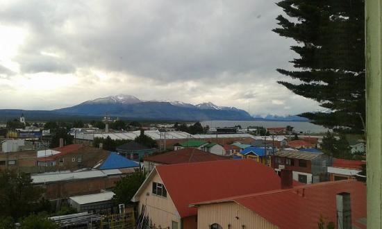 Hostal Bellavista Patagonia: Vista do nosso quarto.