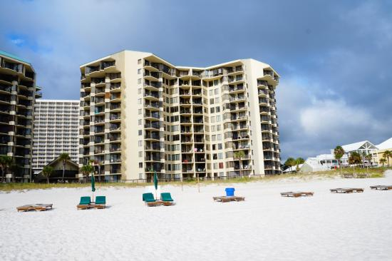 Sunbird Condominiums: east tower view from the beach