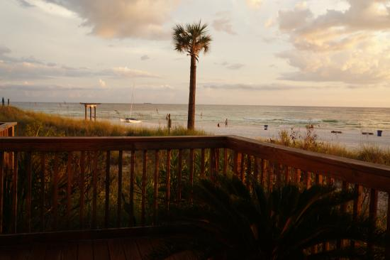 Sunbird Condominiums: view of the beach from the deck