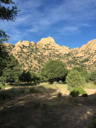 Cochise Stronghold, A Nature Retreat: View of Dragoons at Mid Morning