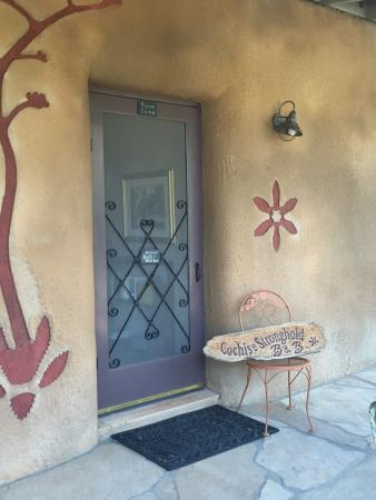 Cochise Stronghold, A Nature Retreat: Our Front Screen Door