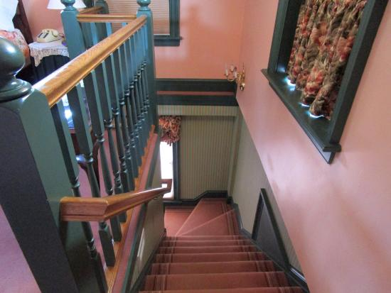 Sheboygan Falls, WI: Stairs Leading from First Floor in Suite to 2nd Floor in Suite