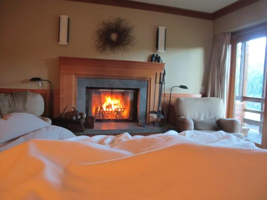 Tu Tu Tun Lodge: Cozy fireplace