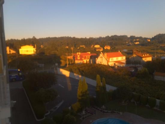 Turimar Hotel: Vistas desde el balcón del hotel Turimar en sanxexo