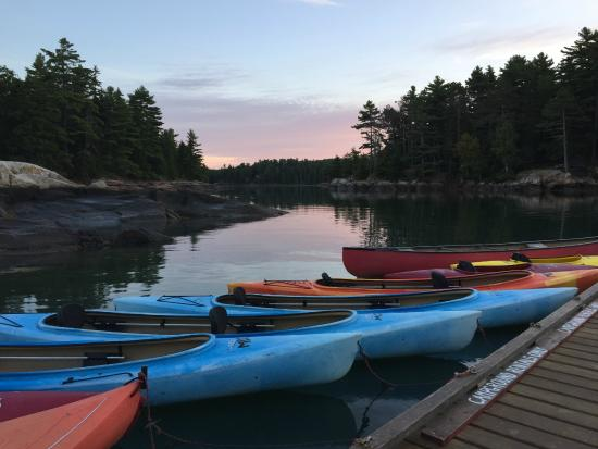 Mount Desert Campground: Dawn on the docks