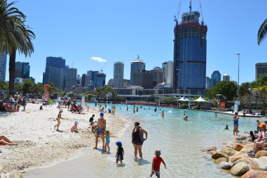 Nice beach picture of south bank parklands brisbane for Pool home show brisbane