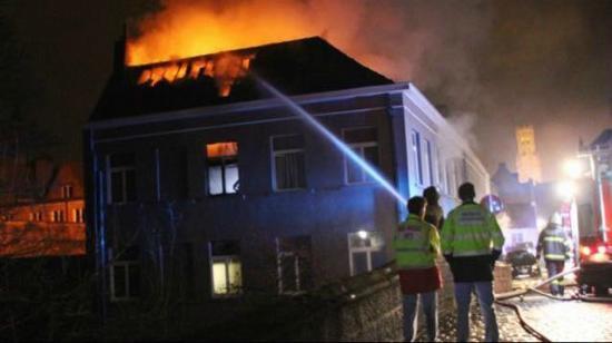 Walwyck Hotel Brugge: Fire of Walwyck Hotel Feb 2015
