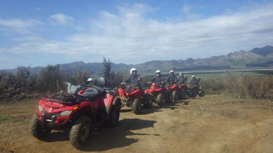 Hanmer Springs Adventure Centre : At one of the stops with a great view over Hamner