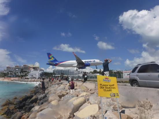 Plane at Maho Beach