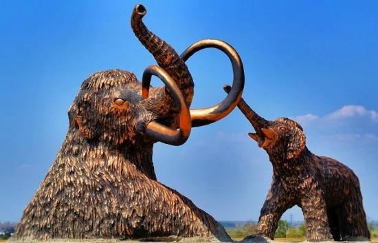 Monument to Baby Mammoth and Its Mother