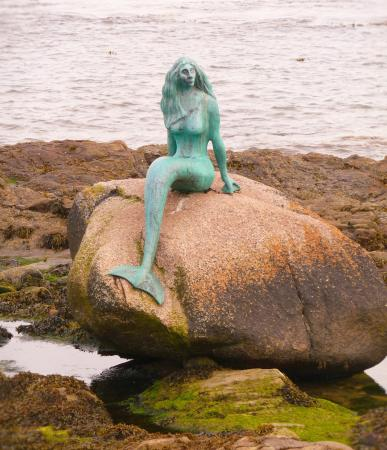 Balintore, UK: Mermaid of the North at low tide