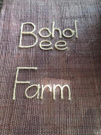 Bohol Bee Farm: menu