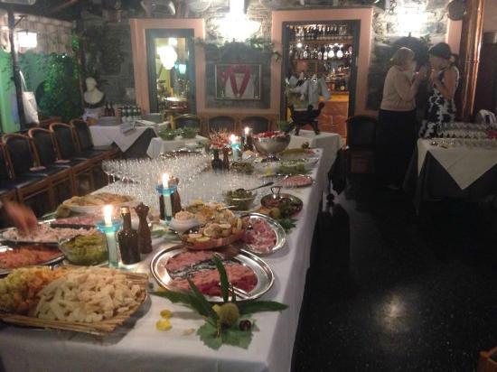 Ristorante Terrazza Barchetta: Buffet in Terrazza