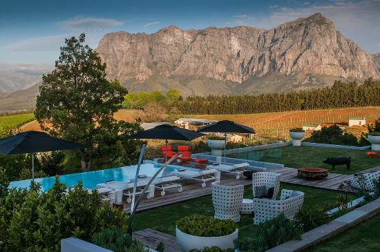 Clouds Wine & Guest Estate: Swimming pool and deck