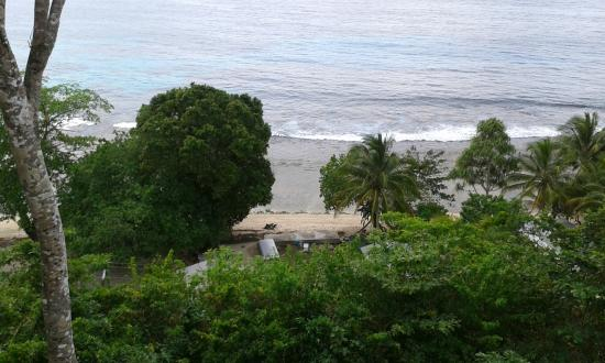 Lihir Island, Papoea Nieuw Guinea: View from restauant / bar area