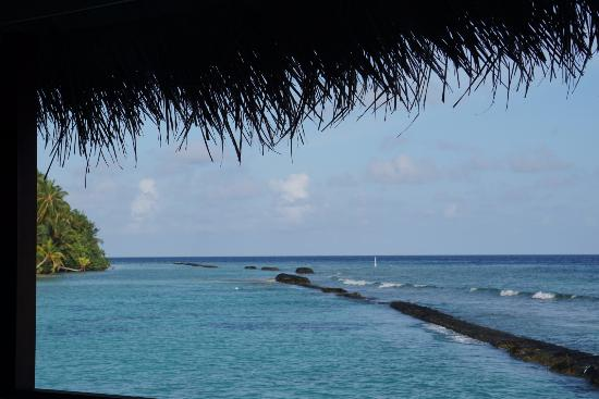 Kuramathi: View from Water villa with Jacuzzi