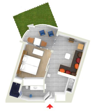 Sunwing Cala Bona Beach: Happy Baby - Apartment in Bouganvilla Building (33-35m2, Up to 4-5 persons) Living room separate