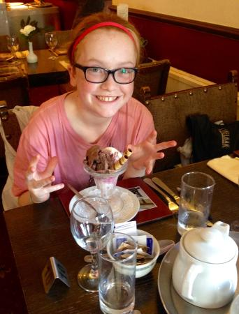 Wheddon Cross, UK: le dessert de ma fille
