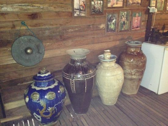 The Kebun: Antiques on display in the long house