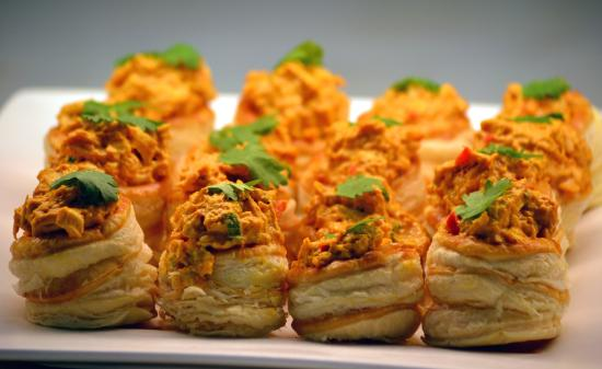 Holetown, Barbados: Coronation Chicken Vol au Vents