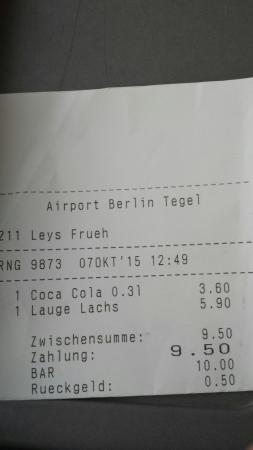 rechnung bild von leysieffer im airport berlin tegel berlin tripadvisor. Black Bedroom Furniture Sets. Home Design Ideas