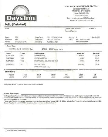 Days Inn Fredonia/Dunkirk: $88.88 avec taxes