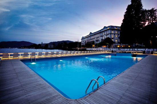 Villa d'Este from the floating swimming pool