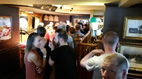 Neston, UK: long queues at the carvery