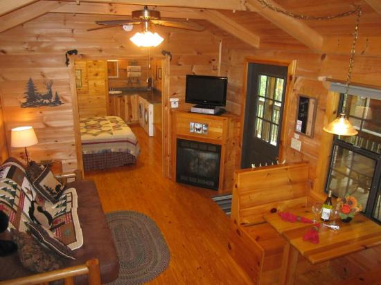 One Room Cabins Amusing One Room Log Cabin With Pocket Doors Picture Of Hot Springs Log . Inspiration Design
