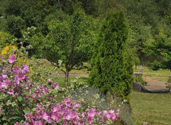 Beautiful gardens and veranda are off the downstairs function suite ...