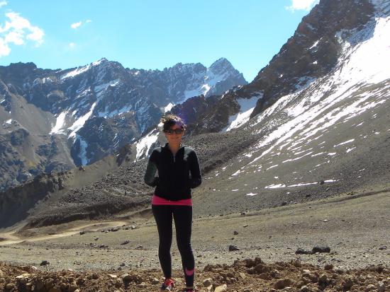 Tupungato, Arjantin: Vista por el camino de regreso por Chile