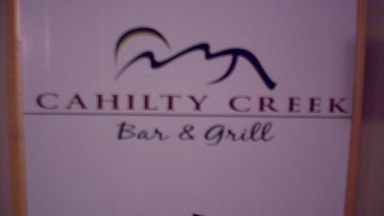 Cahilty Creek Bar and Grill: Upscale pub grub