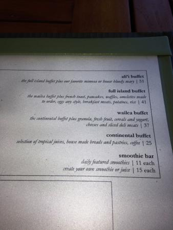 Fabulous Buffet Pricing Menu Picture Of Duo Steak Seafood Wailea Interior Design Ideas Inesswwsoteloinfo