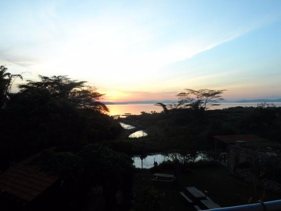 Yellow Haven Lodge: Sunrise vanaf balkon