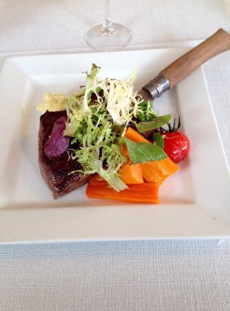 Castillon-la-Bataille, Francia: Steak purée