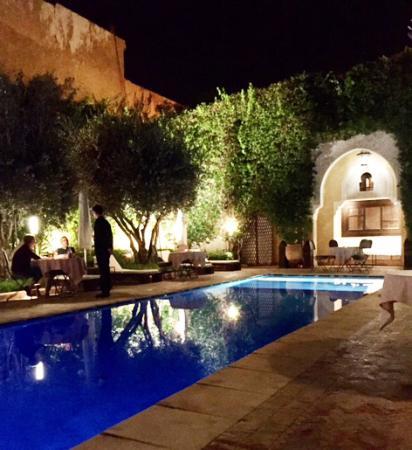 La Villa des Orangers - Restaurant : The dining area