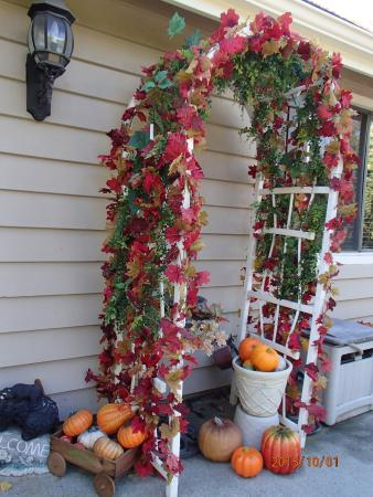 Serendipity Ranch Bed and Breakfast : nice fall decoration