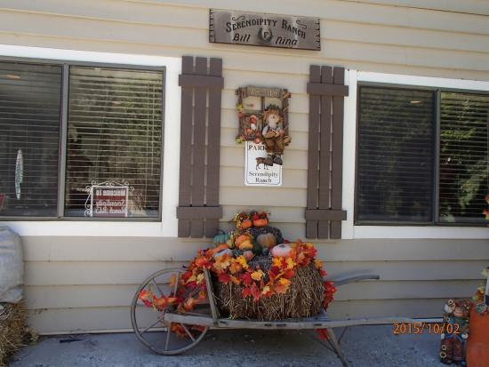 Oak Glen, Califórnia: Warm welcome sign