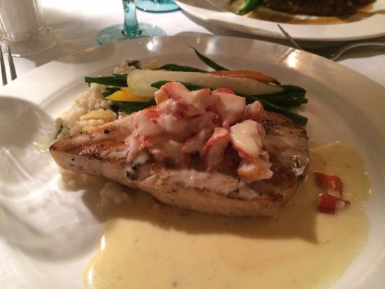 Wentworth: Broiled swordfish with lobster