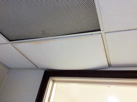 Hilton Bellevue Ceiling Tile Sagging Over Bathroom Door