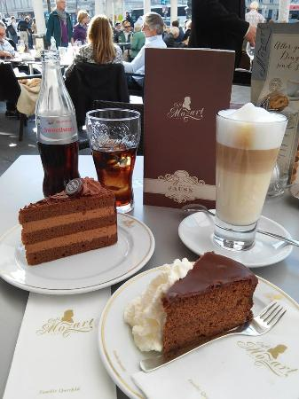 Sacher Torte and Truffle Torte with Cafe Latte - Picture of Cafe ...