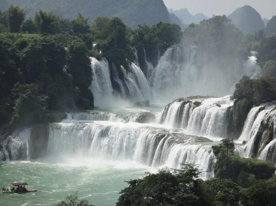 Daxin County, China: Detian Falls