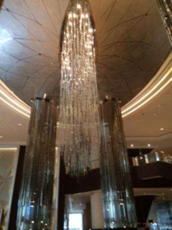 What a huge chandeliers hanging in the lobby - Picture of ...