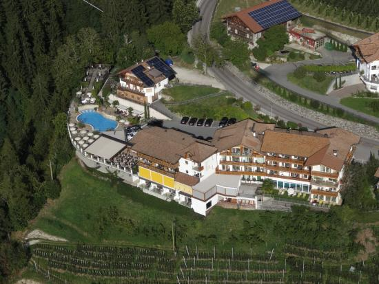 View of Hotel Panorama as I was hang-gliding above it