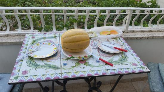 Casa Teresa: Tasty local melon (not part of hotel meals)