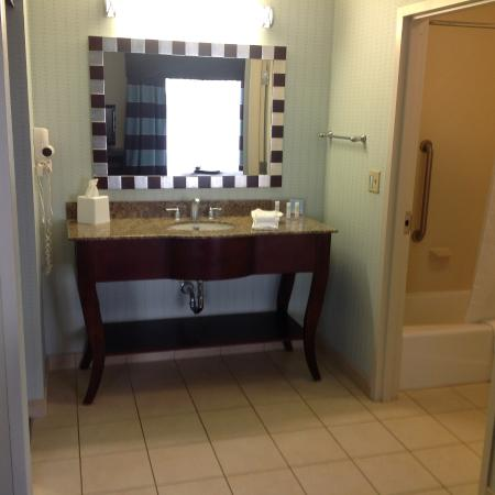 Hampton Inn U0026 Suites Nashville @ Opryland: Spacious Bathroom Vanity, Good  Counter Space