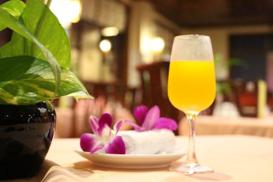 Lin Ratanak Angkor Hotel: Welcome Drink
