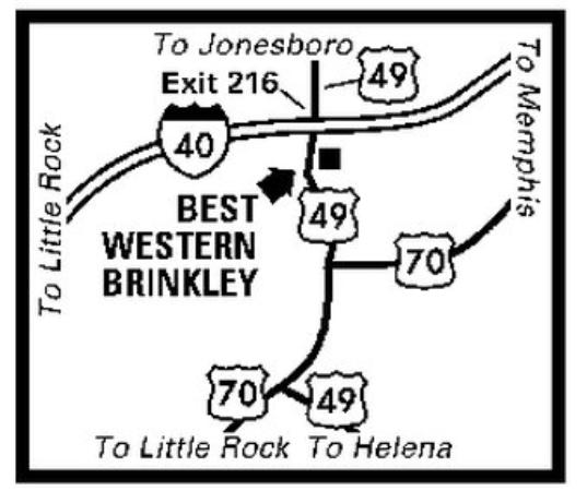 Brinkley, AR: Regional Map