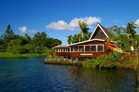 Hilo Seaside Hotel: Ponds dining view